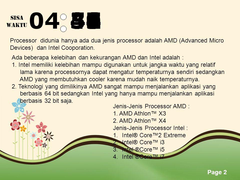 Page 1 SPESIFIKASI KOMPUTER REVI FERNANDIAZ 1304115488 MSP A DOSEN PENANGGUNG JAWAB : RONALD M.