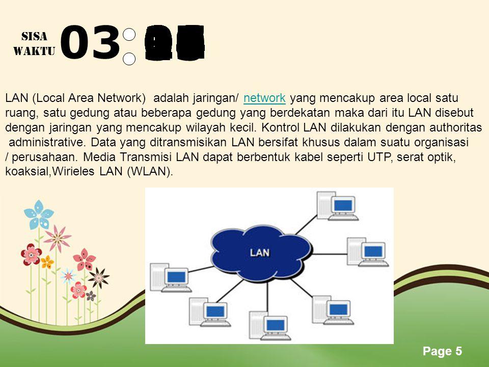 Page 4 035958575655545352515049484746454443424140393837363534333231 SISA WAKTU Wi-Fi ( Wireless Fidelity) - Wifi merupakan kependek-an dari Wireless Fidelity, memiliki pengertian yaitu sekumpulan standar yang digunakan untuk Jaringan Lokal Nirkabel (Wireless Local Area Networks atau WLAN) yang didasari pada spesifikasi IEEE 802.11.