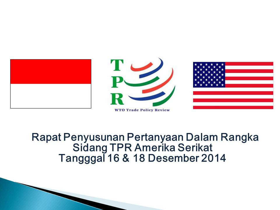 Rapat Penyusunan Pertanyaan Dalam Rangka Sidang TPR Amerika Serikat Tangggal 16 & 18 Desember 2014