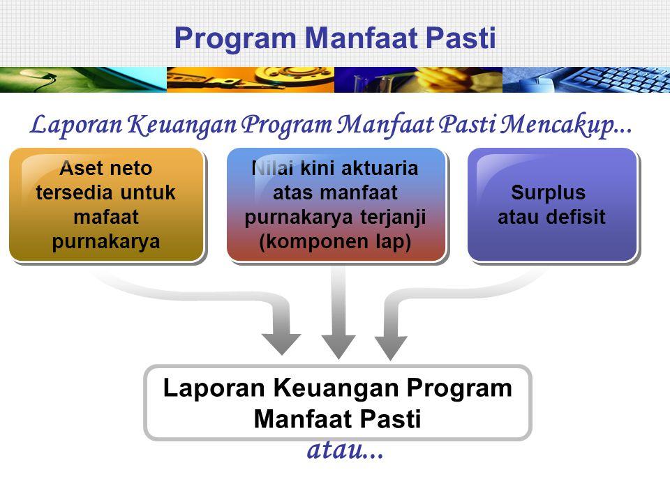 Program Manfaat Pasti Headings Aset neto tersedia untuk mafaat purnakarya Surplus atau defisit Surplus atau defisit Laporan Keuangan Program Manfaat P