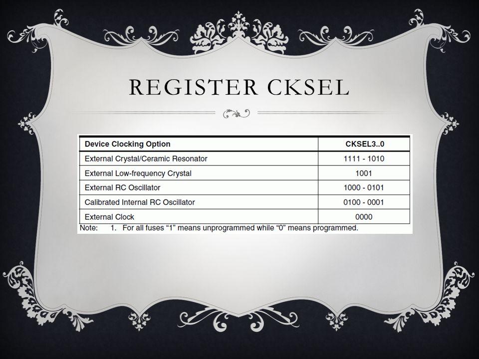 REGISTER CKSEL
