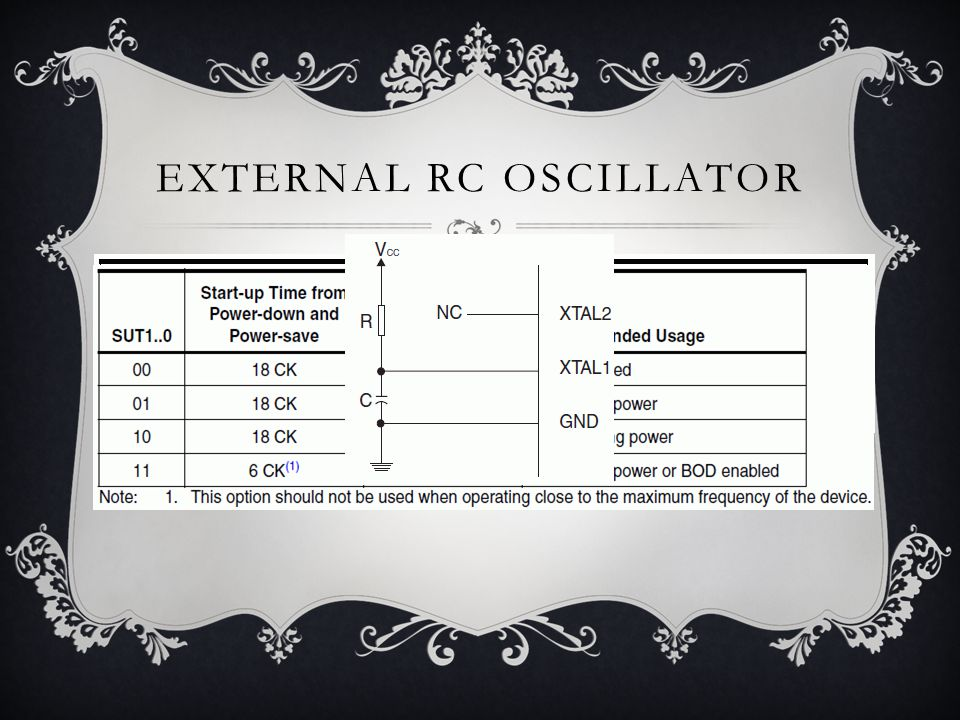 CALIBRATED INTERNAL RC OSCILLATOR
