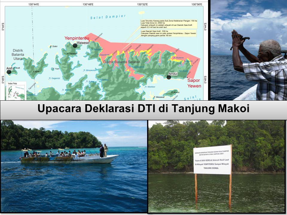 Upacara Deklarasi DTI di Tanjung Makoi