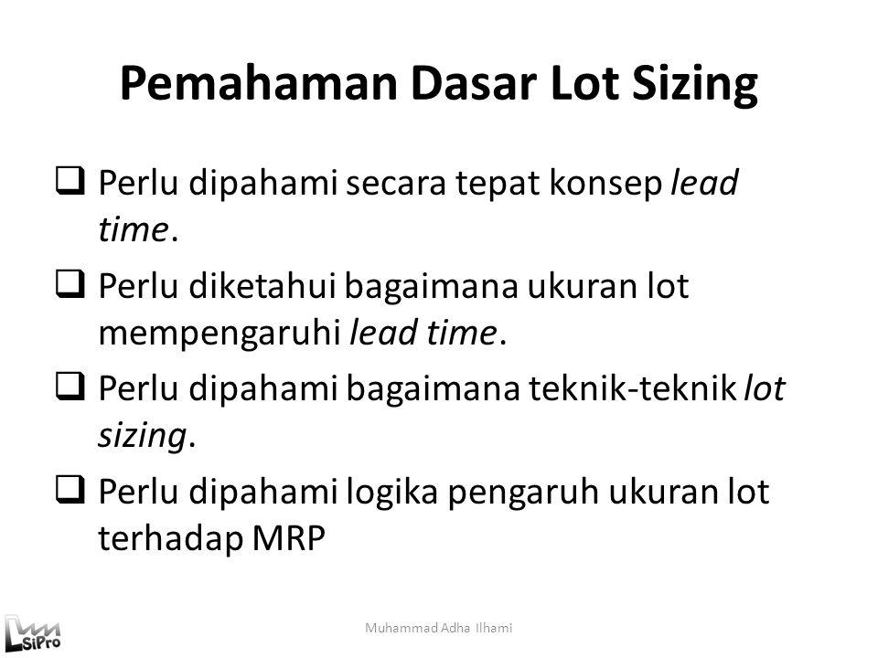 Pemahaman Dasar Lot Sizing Muhammad Adha Ilhami  Perlu dipahami secara tepat konsep lead time.