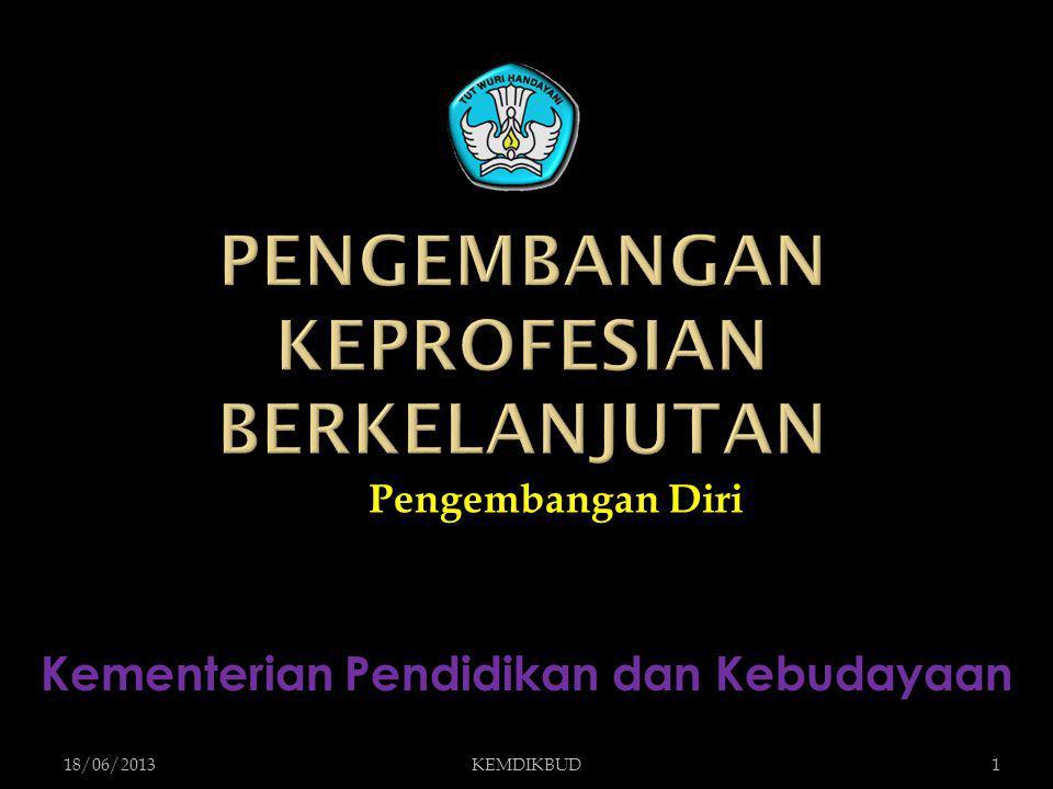 Pengembangan Diri 18/06/20131KEMDIKBUD Kementerian Pendidikan dan Kebudayaan