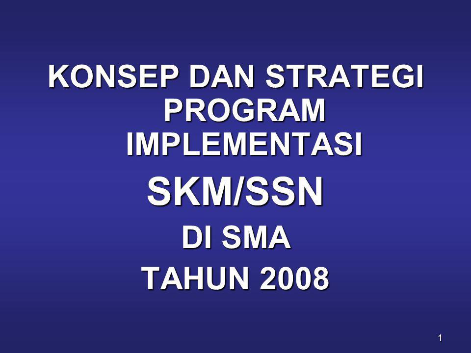 1 KONSEP DAN STRATEGI PROGRAM IMPLEMENTASI SKM/SSN DI SMA TAHUN 2008