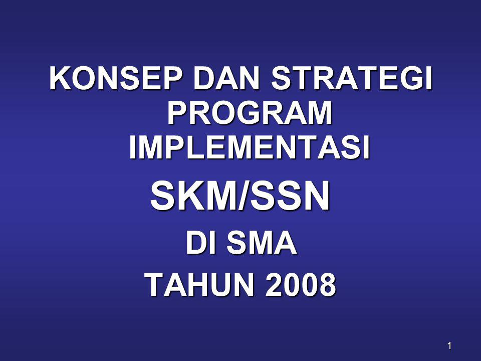22 KEGIATANWAKTUKETERANGAN Penyiapan Petugas/ Fasilitator Rintisan SKM/ SSN 2008 Februari 2008 Dilaksanakan oleh Dit.