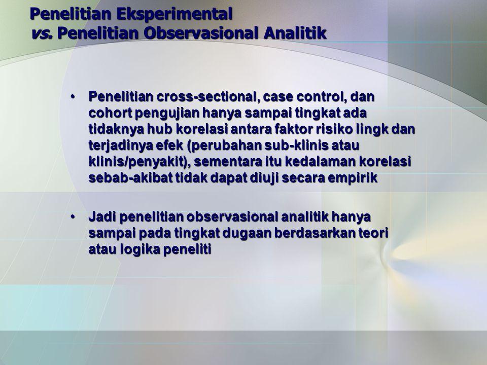 Penelitian Eksperimental vs.
