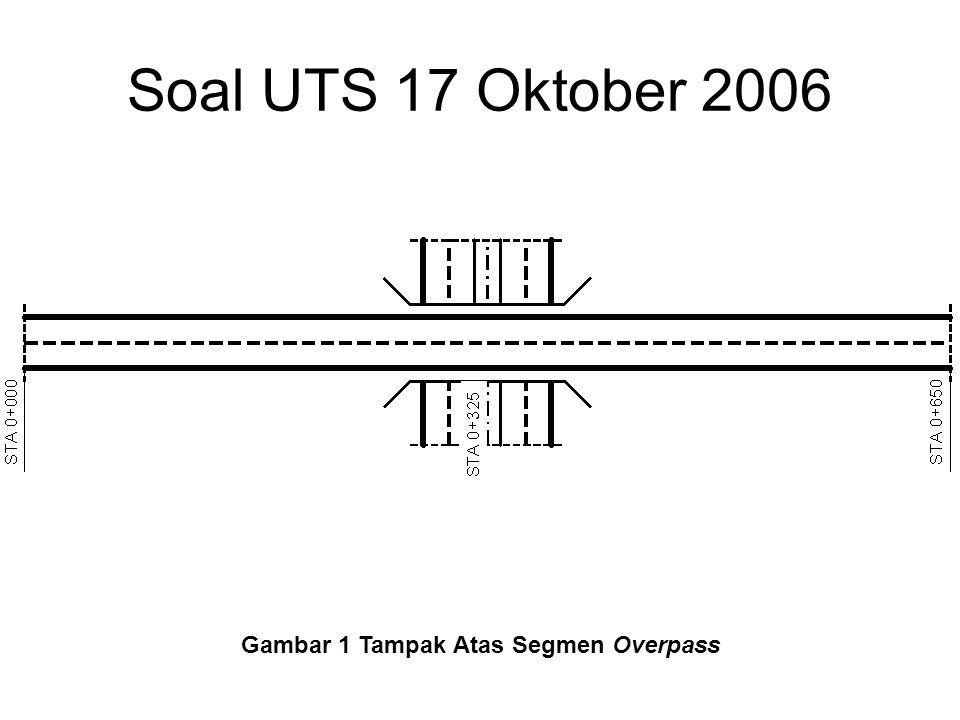 Soal UTS 17 Oktober 2006 Gambar 2 Potongan Memanjang Segmen Overpass