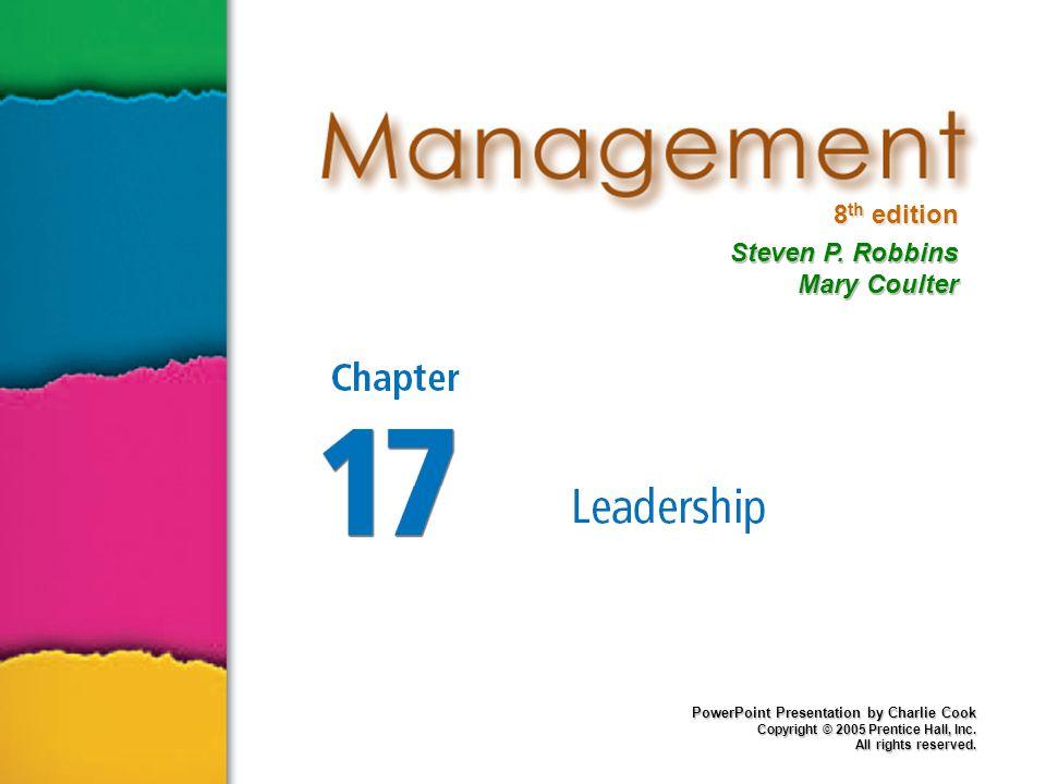 17–2 Manajer Vs Pemimpin Manajer  Ditunjuk untuk posisinya.