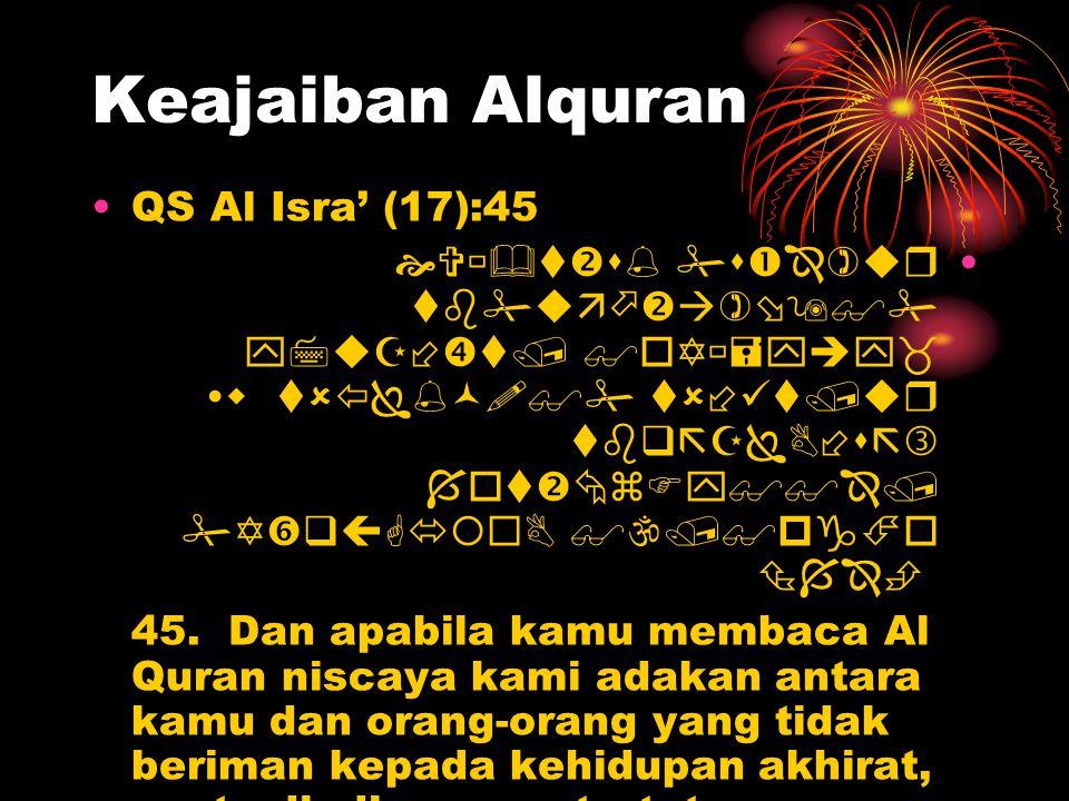 Keajaiban Alquran QS Al Isra' (17):45            