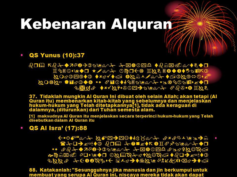 Kebenaran Alquran QS Yunus (10):37               