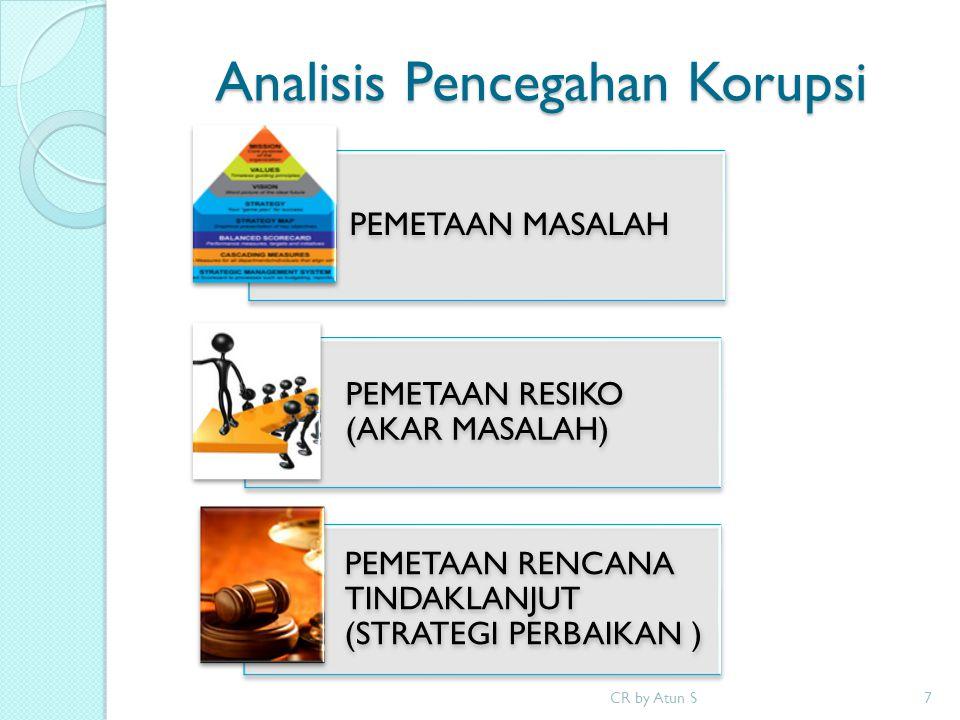 Analisis Pencegahan Korupsi PEMETAAN MASALAH PEMETAAN RESIKO (AKAR MASALAH) PEMETAAN RENCANA TINDAKLANJUT (STRATEGI PERBAIKAN ) 7CR by Atun S