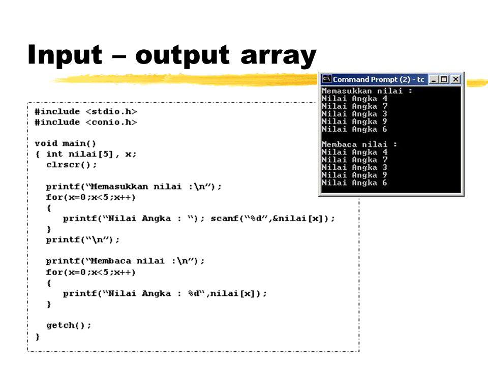 Input – output array