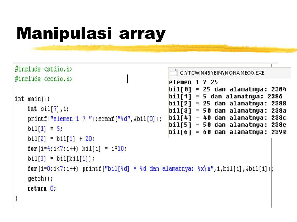 Manipulasi array