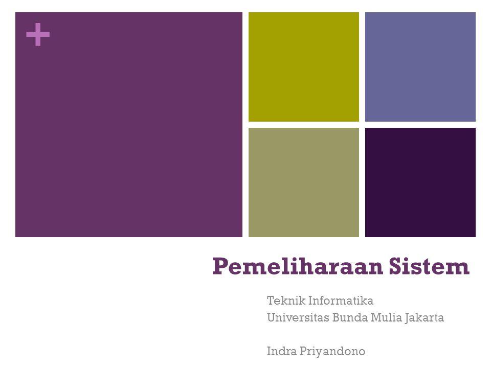 + Pemeliharaan Sistem Teknik Informatika Universitas Bunda Mulia Jakarta Indra Priyandono