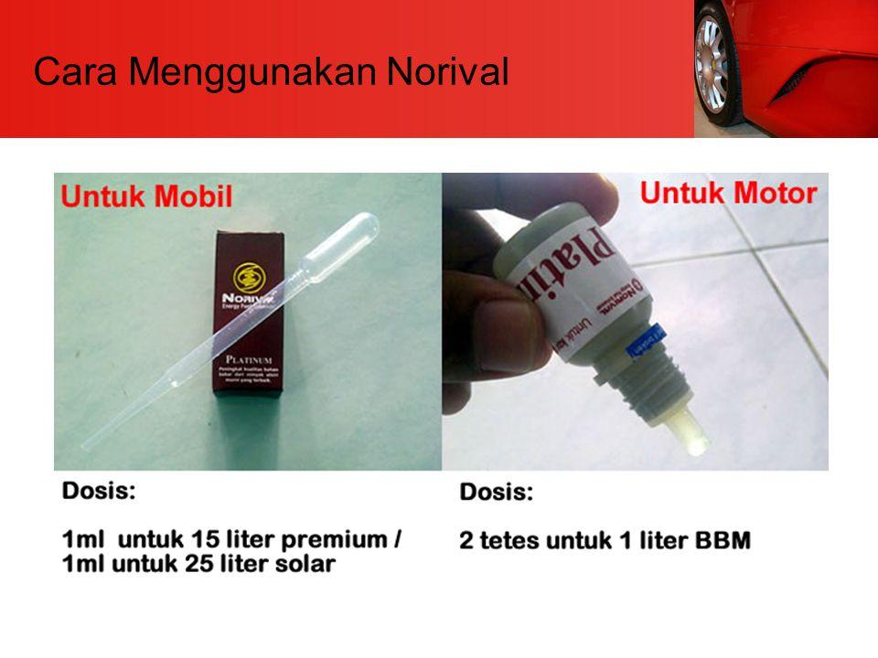 Cara Menggunakan Norival