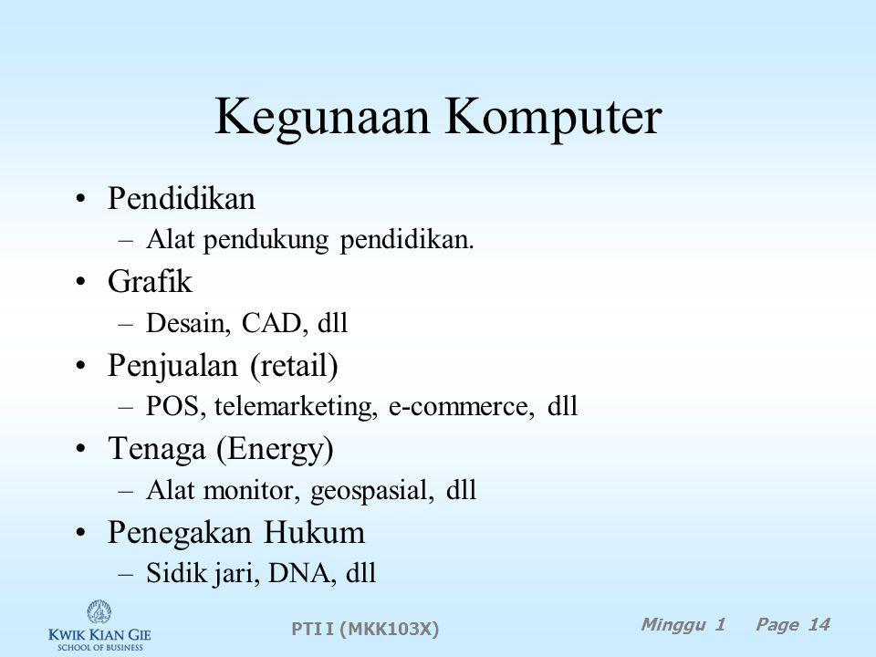 Kegunaan Komputer Pendidikan –Alat pendukung pendidikan.
