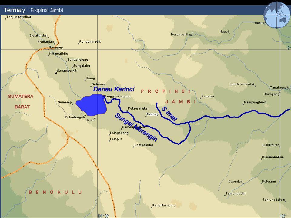 Tarutung Pulausangkar Lubukpaku Tamiai Sanggaranagung Muaraimat Danau Kerinci 0 5km Scale N S Merangin S Imat Danau Kerinci Sungai Merangin S Imat