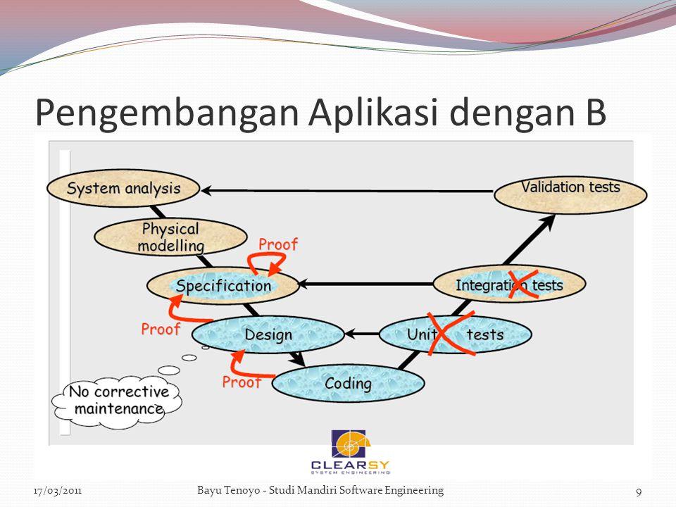 Pengembangan Aplikasi dengan B 17/03/2011Bayu Tenoyo - Studi Mandiri Software Engineering9