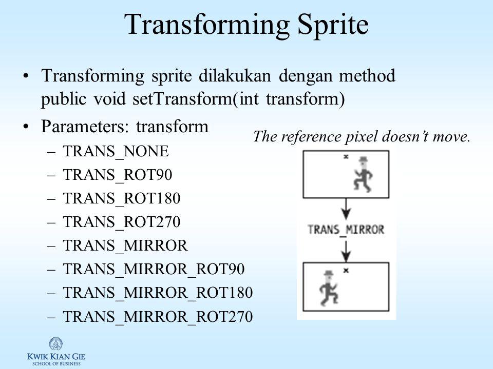 Sprite transformation