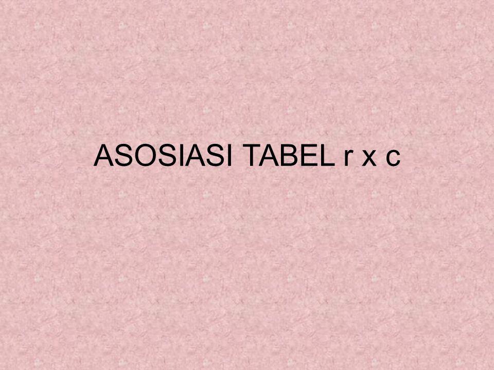 ASOSIASI TABEL r x c