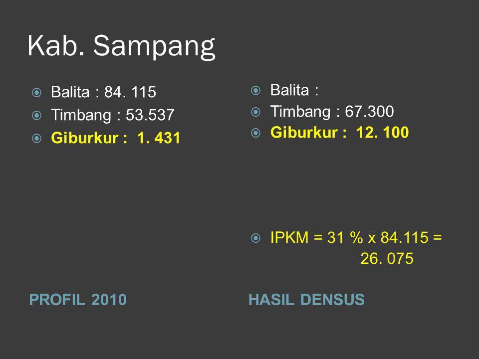 Kab. Sampang PROFIL 2010HASIL DENSUS  Balita : 84.