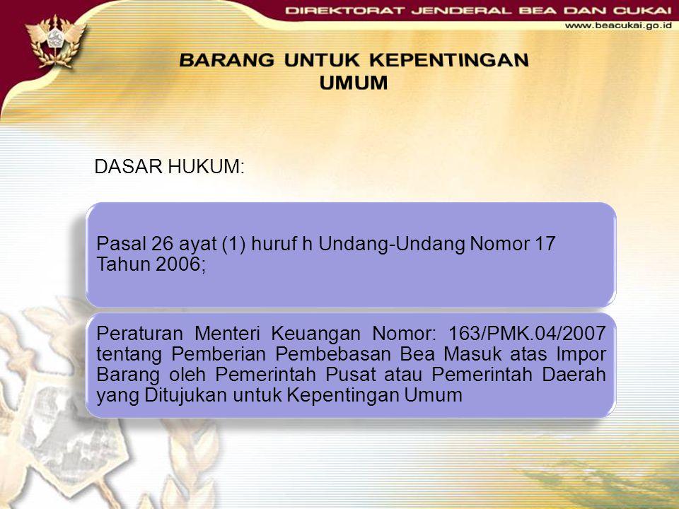 KMK Nomor 140/KMK.05/1997 Prosedur untuk mendapatkan fasilitas Mengajukan permohonan kepada Direktur Jenderal Bea dan Cukai atau pejabat yang ditunjuk