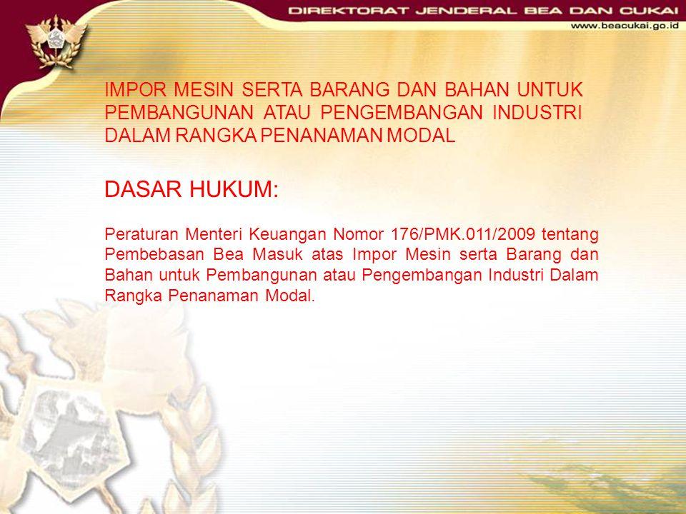 KMK Nomor 239/KMK.01/1996 Setelah hasil pemeriksaan sesuai, maka diterbitkan Surat Keputusan Menteri Keuangan tentang pemberian fasilitas tersebut den