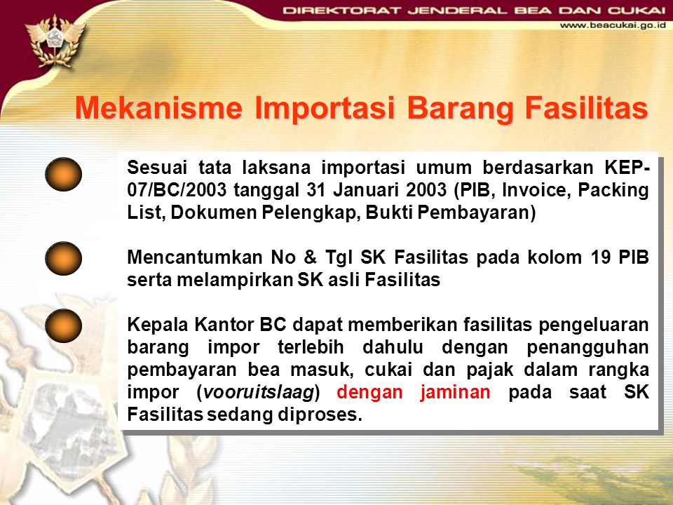 PMK Nomor 176/PKM.011/2009 Permohonan untuk mendapatkan fasilitas: Akta pendirian Perusahaan; Surat Persetujuan Penanaman Modal; Nomor Pokok Wajib Paj