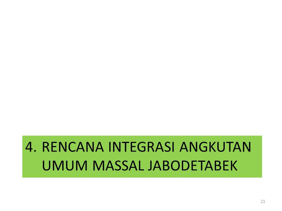 4. RENCANA INTEGRASI ANGKUTAN UMUM MASSAL JABODETABEK 21