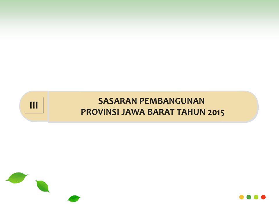 SASARAN PEMBANGUNAN PROVINSI JAWA BARAT TAHUN 2015 III