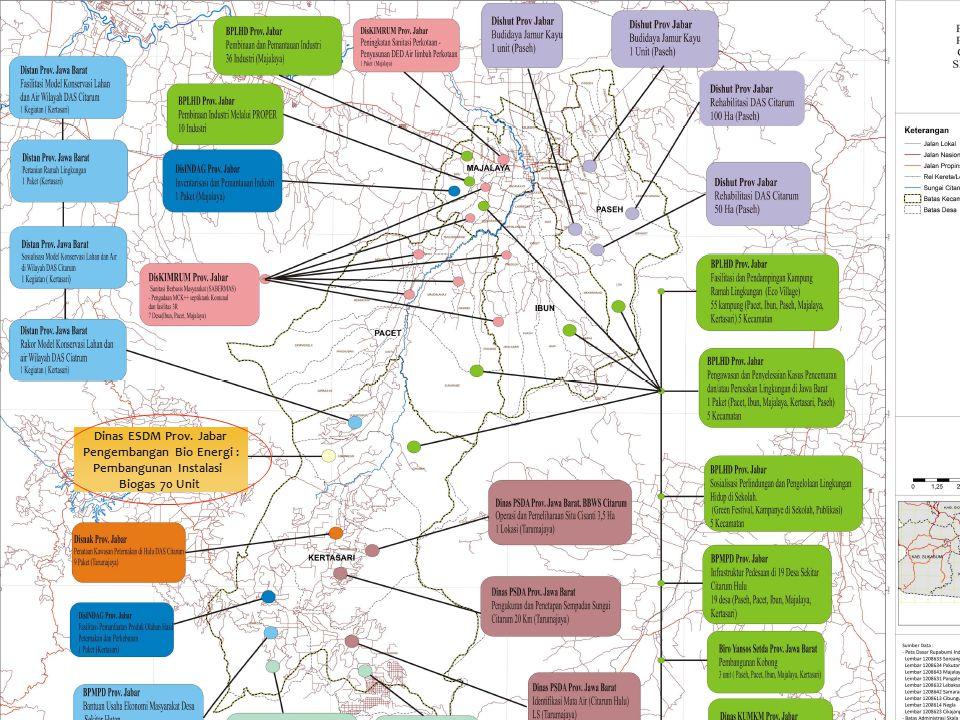 30 Dinas ESDM Prov. Jabar Pengembangan Bio Energi : Pembangunan Instalasi Biogas 70 Unit