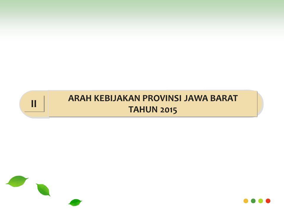 ARAH KEBIJAKAN PROVINSI JAWA BARAT TAHUN 2015 II