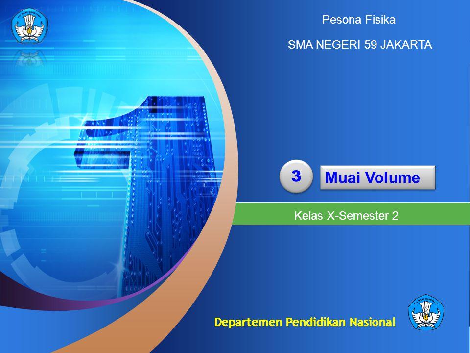 Departemen Pendidikan Nasional 3 3 Muai Volume Kelas X-Semester 2 Pesona Fisika SMA NEGERI 59 JAKARTA