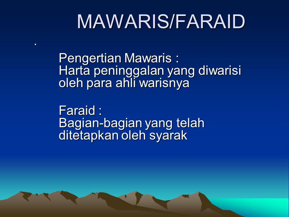 MAWARIS/FARAID.MAWARIS/FARAID.