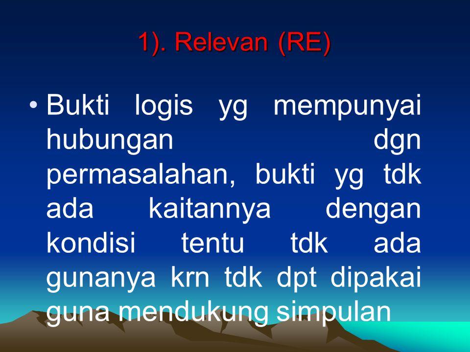 4.JENIS-JENIS BUKTI  1). Bukti fisik  2). Bukti dokumen  3).