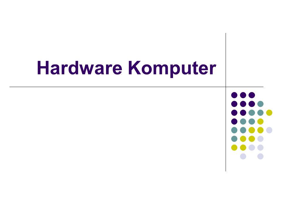 Hardware Secara fungsional dibedakan menjadi : Perangkat masukan Perangkat proses Perangkat keluaran Perangkat penyimpanan