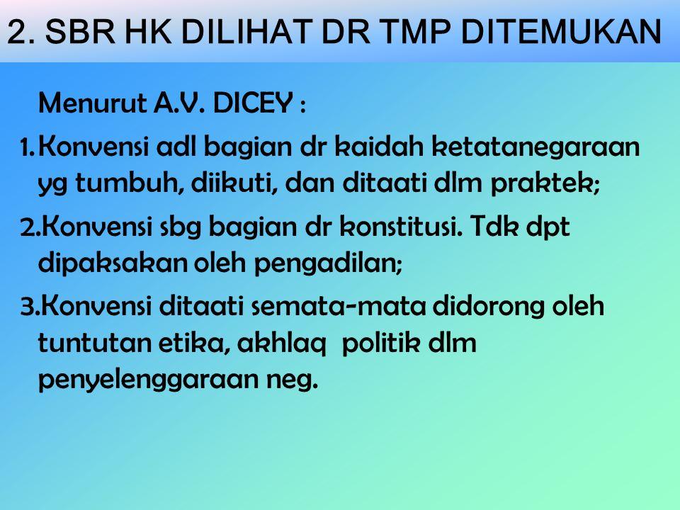 2. SBR HK DILIHAT DR TMP DITEMUKAN Menurut A.V.