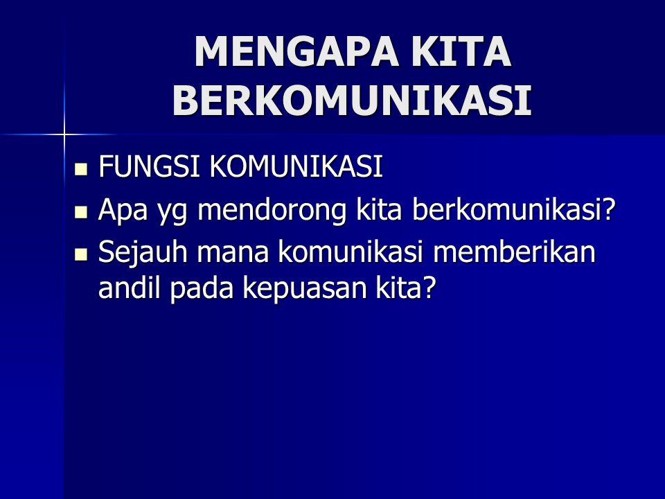 FUNGSI KOMUNIKASI 1.