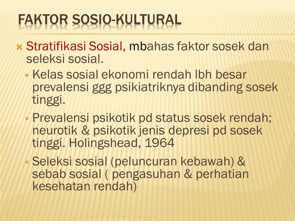  Stratifikasi Sosial, mbahas faktor sosek dan seleksi sosial.