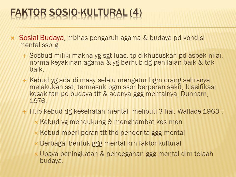  Sosial Budaya, mbhas pengaruh agama & budaya pd kondisi mental ssorg.