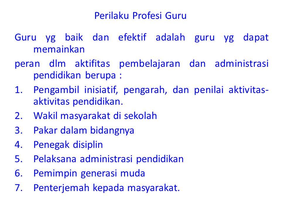 Status Profesional Jabatan Guru dan Tantangannya 1.