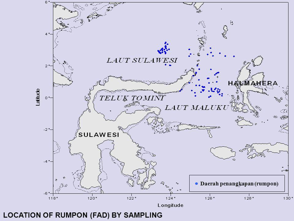 Daerah penangkapan (rumpon) LOCATION OF RUMPON (FAD) BY SAMPLING