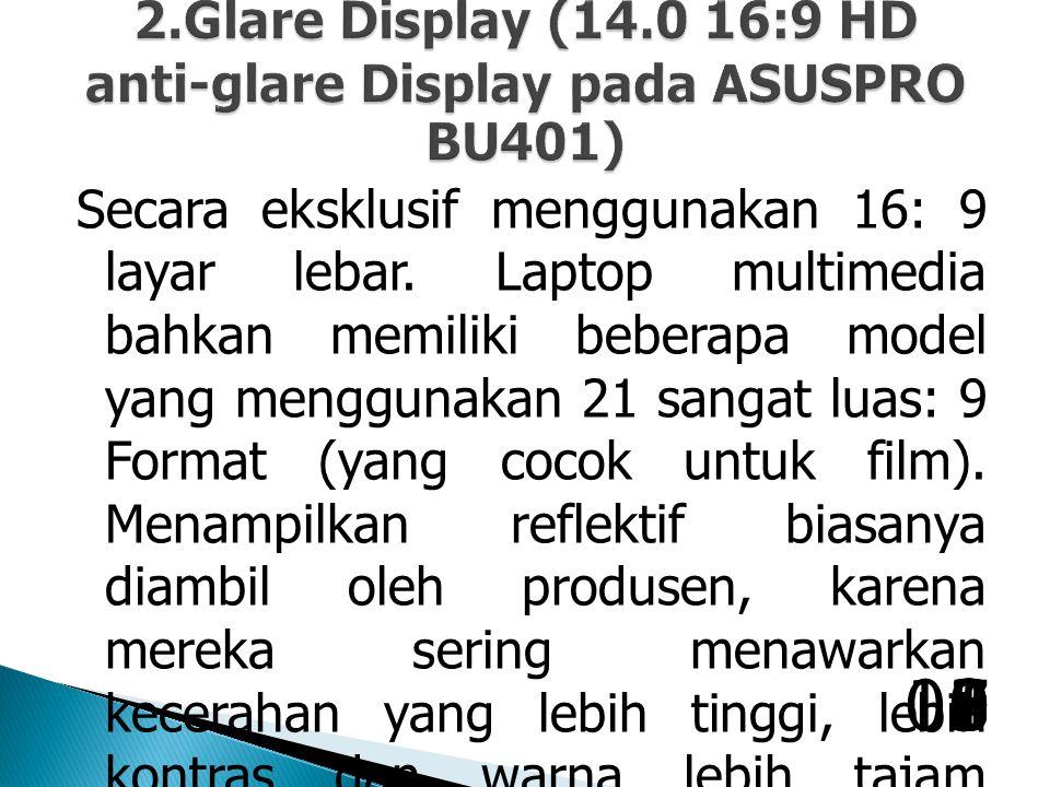 Secara eksklusif menggunakan 16: 9 layar lebar.