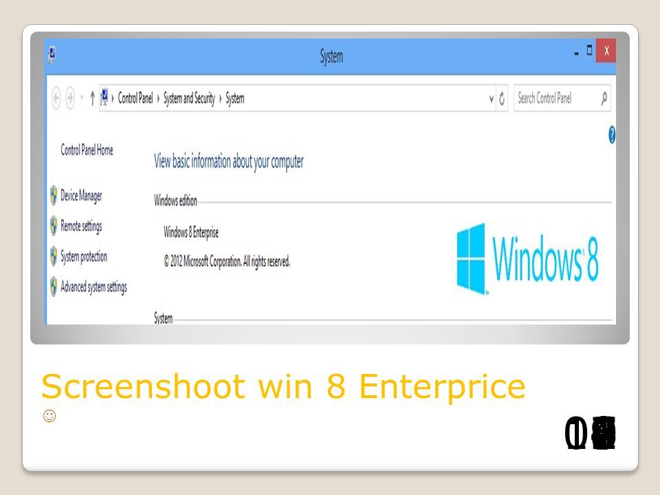 Screenshoot win 8 Enterprice 1098765432100