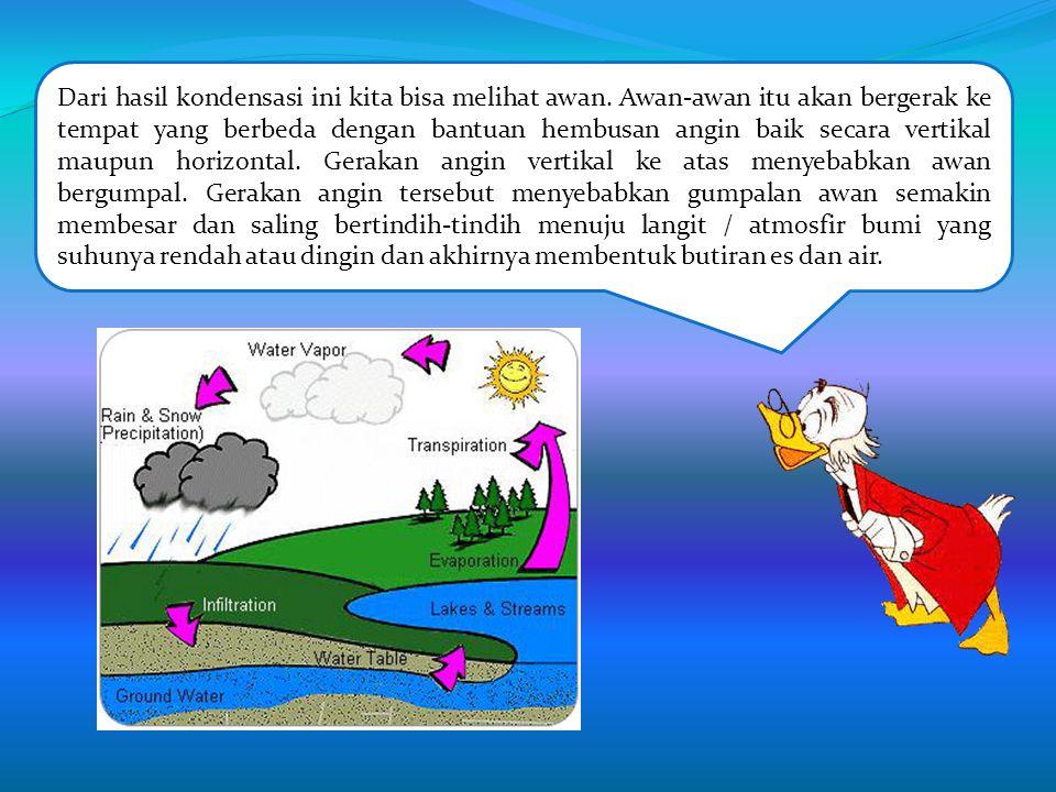 Baiklah akan saya jelaskan bagaimana proses terjadinya hujan. proses terjadinya Hujan adalah peristiwa jatuhnya air dari awan ke bumi. Bumi kita terdi