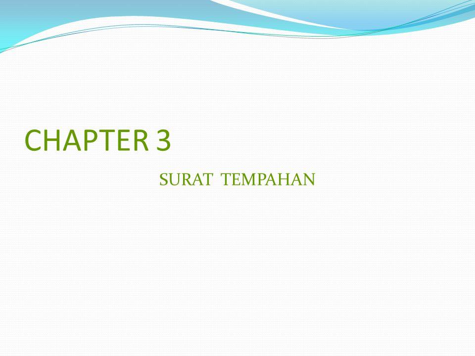CHAPTER 3 SURAT TEMPAHAN