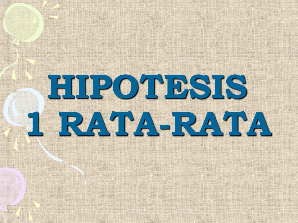 HIPOTESIS 1 RATA-RATA