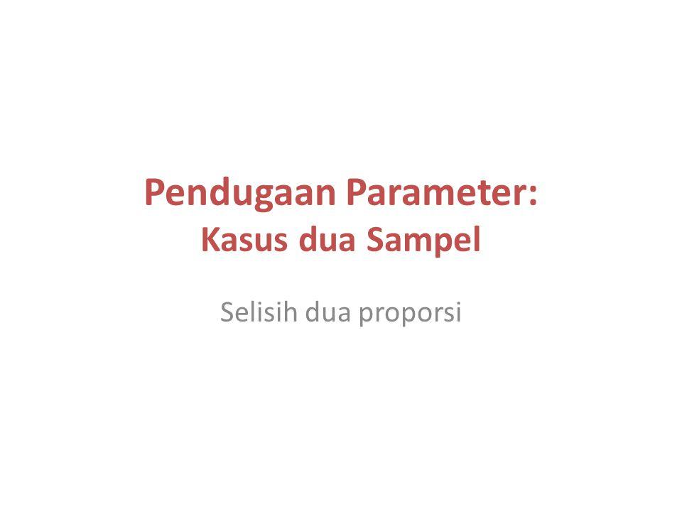 Pendugaan Parameter: Kasus dua Sampel Selisih dua proporsi